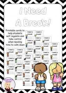 image relating to Break Cards for Students Printable called I Require a Crack! Resourceful Trainer